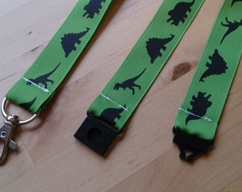 Dinosaurs Ribbon Lanyard / ID Badge Holder