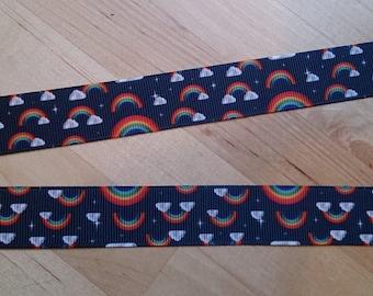 Rainbows and Clouds Ribbon Lanyard / ID Badge Holder
