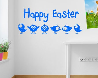 Easter Eggs Wall Stickers Kids Nursery Play Room Home Art Decoration Children Decals Removable Handmade School Bedrooms Bright VC-A149