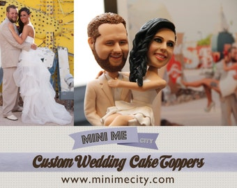 Custom Wedding Cake Topping - Exactly Like You !