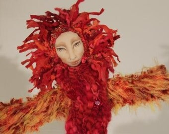 Firebird Mystical Spirit Doll  OOAK