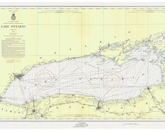 Lake Ontario 1956 Nautical Map Reprint - Great Lakes 002