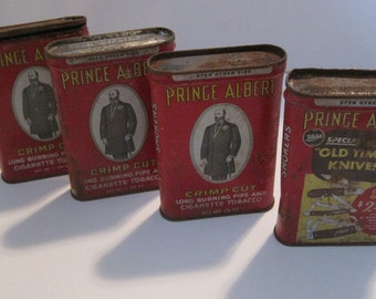 ANtiQUe Prince Albert Tobacco Tins (4)