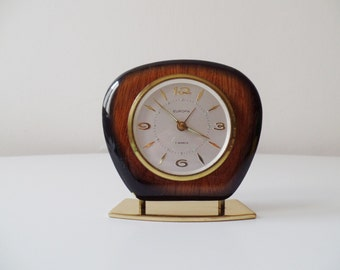 Europa mechanical 7 jewels alarm clock.