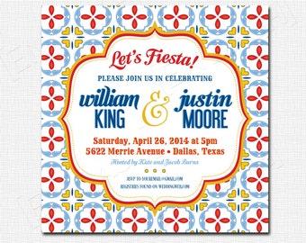 Spanish Tile Fiesta Invitation