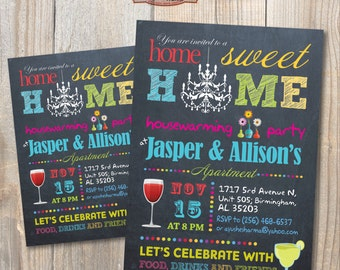 Housewarming Party Invitation. DIY card. Digital Printable card