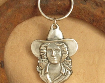 Cowgirl Keychain,Western Keychain For the Horse Lover
