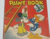 Vintage Disney Coloring Book - 1944 Walt Disney Paint Book