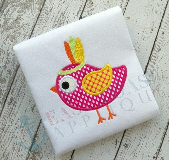 INDIAN BIRD machine embroidery design from EastCoastApplique