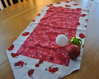 Sock Monkey Santa Table Runner