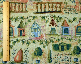 Garden Themed Tapestry Fabric by the Yard