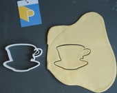 Tea cup 2 cookie cutter, 3D printed