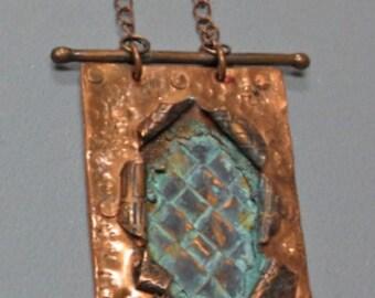 Copper explosion Pendant