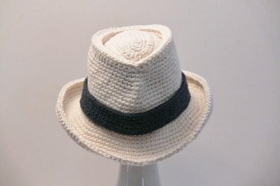 Crochet Pattern Mens Hat Fedora Summer Winter