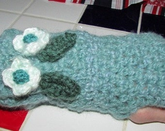Hand crocheted  ladies size wrist warmers