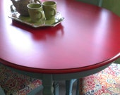 FREE SHIPPING Red and Provence Oval Table 4 upholstered chair Set, Bohemian, Beachy