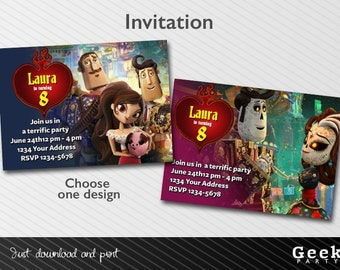 Book of Life Party Invitation - Printable - Choose your design - Manolo - Maria - Joaquin