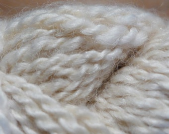 Natural Yarn from Cotswold sheep.