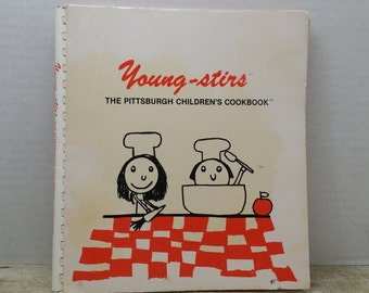 Young-Stirs, 1985, The Pittsburgh Childrens Cookbook, vintage cookbook
