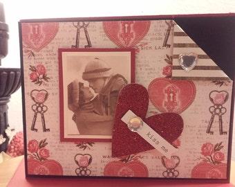 Kiss Me Valentines Day Card Handmade V20