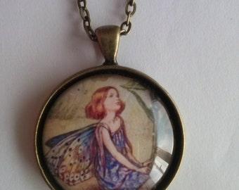 fairy necklace picture pendant necklace
