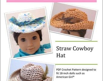Crochet Mini Cowboy Hat Pattern : Cowboy crochet pattern Etsy