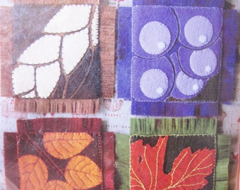 4 DIY Autumn Felt Coasters, Easy Sewing Project, sewing kit, sew for kids, ShineKidsCrafts