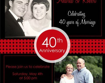 Handmade th anniversary invitations etsy