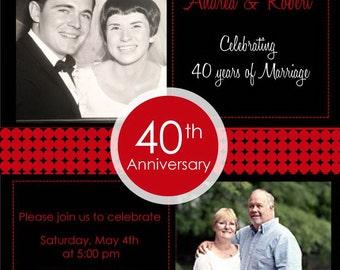 40th anniversary invitations | Etsy