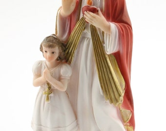 Communion Girl with Jesus Statue