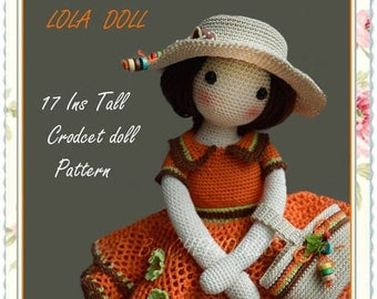 PATTERN  17 Ins tall crochet doll pattern