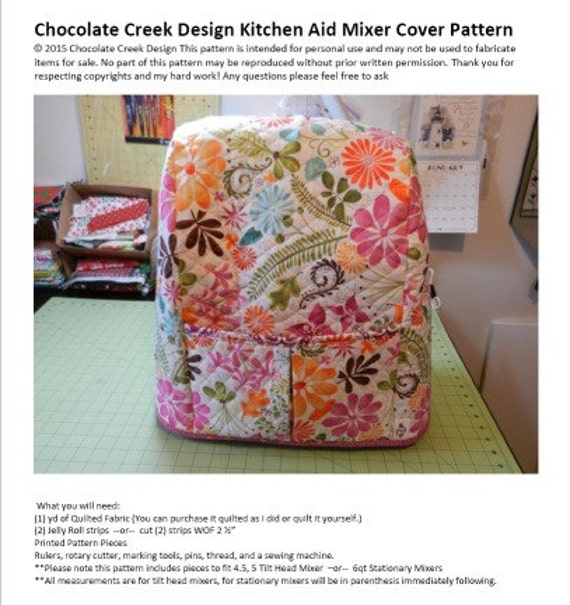 fact cover for kitchenaid mixer pattern that can