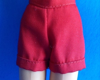 Mattel Barbie doll red shorts
