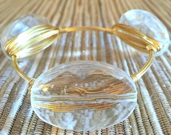the CRYSTALLINE bangle bracelet (tarnish resistant)