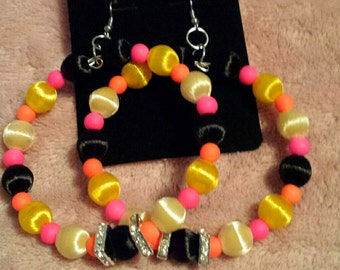 Love and Hip Hop and Basketball wives inspired earring with multi-colored beads