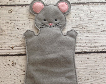 Mouse hand puppet, child sized