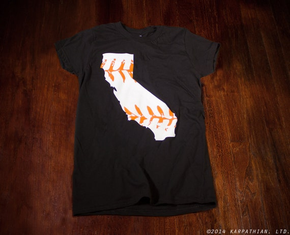 California baseball Ladies junior fit t-shirt