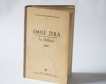 Émile Zola La Débâcle book – novel in French the Downfall - Émile Zola printed in USSR 1949 - collectable Zola book very good condition