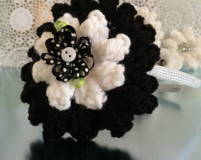 Crocheted interchangeable Flower headband sets