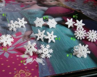 Snowflake Post Stud Earrings