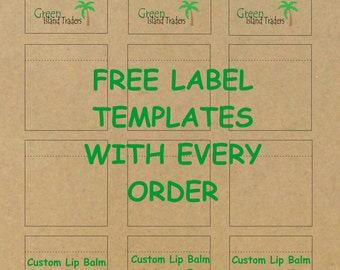 Customizable Lip Balm Labels | 10 Sheets | 120 Labels | Kraft Brown Paper | Free USPS First Class Mail