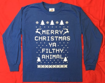 Mens T Shirt Merry Christmas Ya Filthy Animal By Tshirtmarket