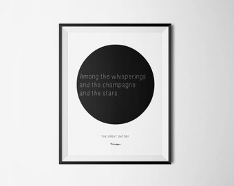 The Great Gatsby Literary Print - Bookish Quote Poster