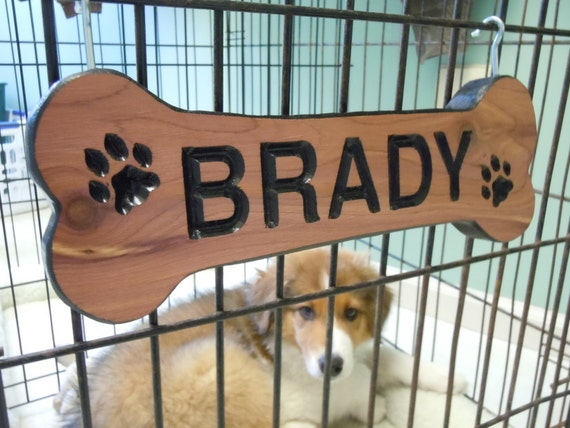 Wooden Dog Name Signs