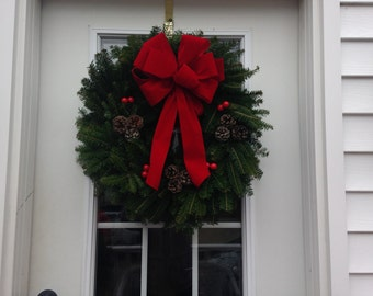Maine Balsam Traditional Holiday Wreath