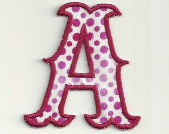"4"" Polka Dot, Carnival Letter Patch! Custom Made!"