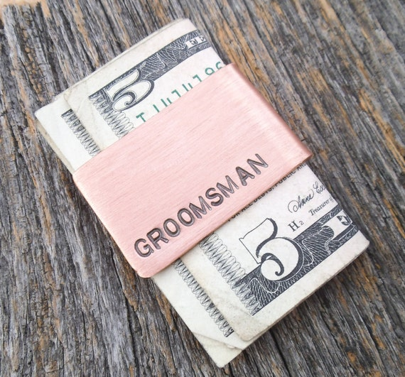 Wedding Gift For Junior Groomsmen : Groomsman Gift Money Clip Junior Groomsmen Perfect Simple Gift Credit ...