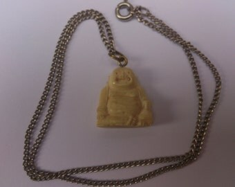 Vintage carved Budha pendant and chain