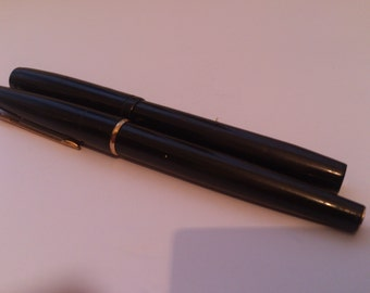"""Two vintage fountain pens a """"Chatsworth"""" and a parker pen"""