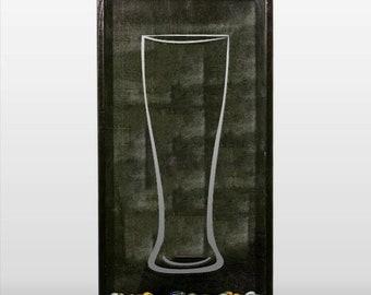 Pilsner Beer Glass - Vinyl Sticker Decal